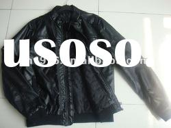 CROSSBOW padded leather jacket for man