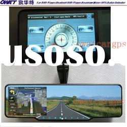 Car Rearview Mirror GPS with DVR, Bluetooth, FM