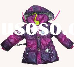 Children girl's hoodies fashion warm winter jacket/coat stock