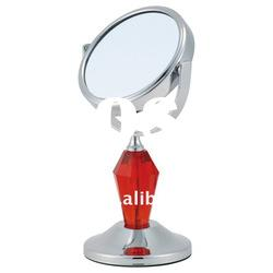 Chrome metal double side table makeup mirror
