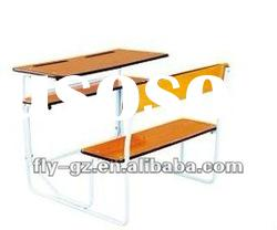 Double student desk and chair/Classroom sets/school furniture university desk chair