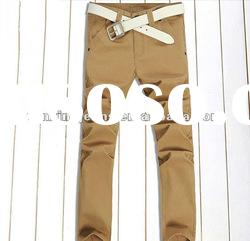 Fashion Men Long Jeans Pants Brown Capri Pants Skinny Jeans for Men