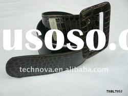 Genunie Casual belt/Leather Belt with Crocodile-skin