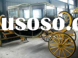 Golden royal horse carriage/royal horse wagon/royal horse cart