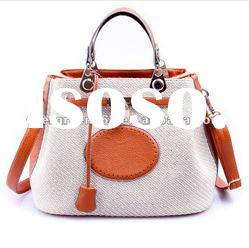 HOT! high quality designer handbags+orange handbags+Tote bag+Stock avaliable+Flax+Hit color(S611)