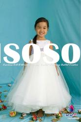 Hand-made Matte Satin and Tulle ball gown featuring a sleeveless flower girl dress by good girl