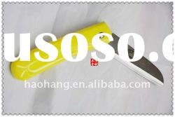 High quality yellow handle stainless steel folding knife set