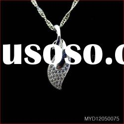 Hot sale 925 silver jewelry pendants with CZ