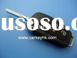 Hot sale Audi A6L car flip key blank 3 button remote key shell case wholesale and retail