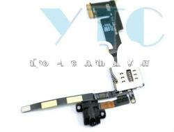 Hot sale original placement 3G Audio Jack Flex cable with SIM connector for ipad 2