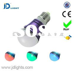 LED bulb 3w RGB with IR remote control
