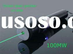 LM-2008 High power 200 mw green laser pointer 532 nm Rotating head
