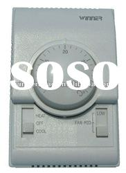 Mechanical room thermostat three fan speed adjustable