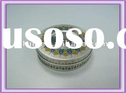 Metal custom window jewelry box tin cans with lid for promotion