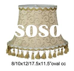 Modified oval fabric novelty lamp shades