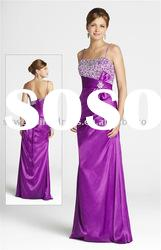 New Style Sweetheart Spaghetti Strap Beaded Red Evening Dress 2011 PL133