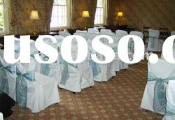 Polyester chair cover, banquet/wedding chair covers,satin sash