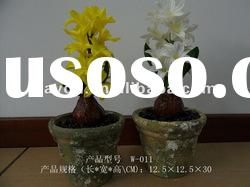 Potted Hyacinth Ikebana PU Artificial Flowers Plastic Fake Flowers Wholesale