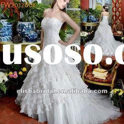 Princess/A-line Floor Length Scalloped-Edge Neckline Layered Organza Lace Wedding Dresses Uk