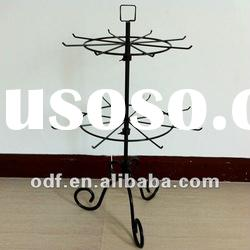 Revolving Metal Decorative Tabletop Display Stand with Pigtail Sign Holder