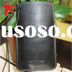 Wholesale soft Genuine leather fit for iphone 4 cell phone case