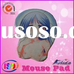 (Hot sell) silicon gel cartoon mouse pad with wrist rest