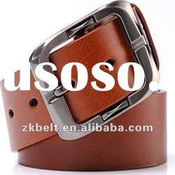 brown leather belt,genuine cowhide leather