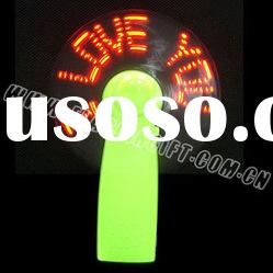 business promotional giveaways mini LED Flashing fan with custom message