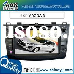 for Mazda 3 car dvd gps navigation radio system with 8 inch hd touch screen, steering wheel control