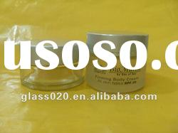 glass cosmetic jar with aluminum cap