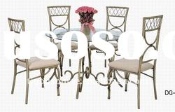 glass dining table and chairs GS-1C5/GS-6T8B