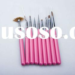 high quality kolinsky nail art brush set