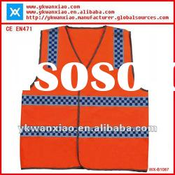 high visibility safety vest with printing tape,reflective vest with high visibility