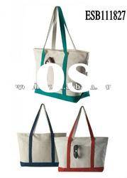 hot sale lady various colors canvas wholesale beach bags