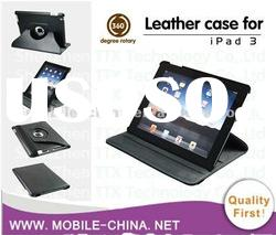 multifunctional 360 rotating stand leather case for the new ipad tablet leather case