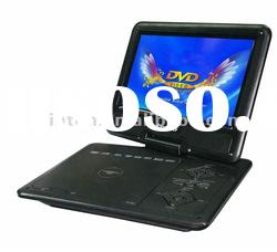 portable DVD player of 9 inch swivel screen