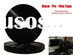 professional produced flame retardant black pet film tape for air duct
