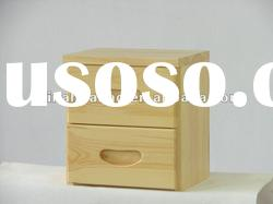 small solid wooden bedside cabinet