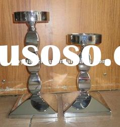 stainless steel glass candle holder