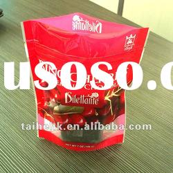 stand up zipper bag for fruit/stand up bag with window for fruit/fruit plastic bag
