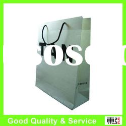white art paper bag for clothes with drawstring