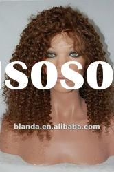 16'' natural kinky curl hair full lace wig
