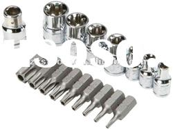 "1/4"" DRIVE E-SOCKET AND STAR BIT SET-16PIECE"