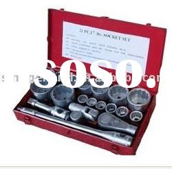 "1"" drive 21pcs hand tools set socket tool set"