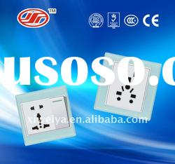 1 gang 2 way with Mulit electrical wall switch and socket