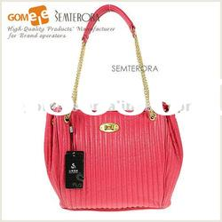 2012 Fashion Cowhide Leather cheap straw beach bag/Shoulder coach handbags