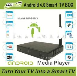 2012 best sell smart tv box android os 2.3 with skype