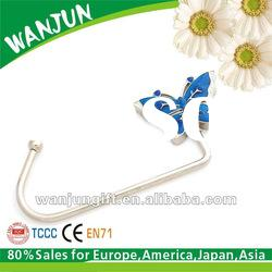 2012 newest silver butterfly bag hanger table hook for purse