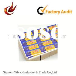 2012 self adhesive paper sticker printing