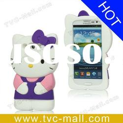 3D Hello Kitty Silicone Case for Samsung I9300 Galaxy S3